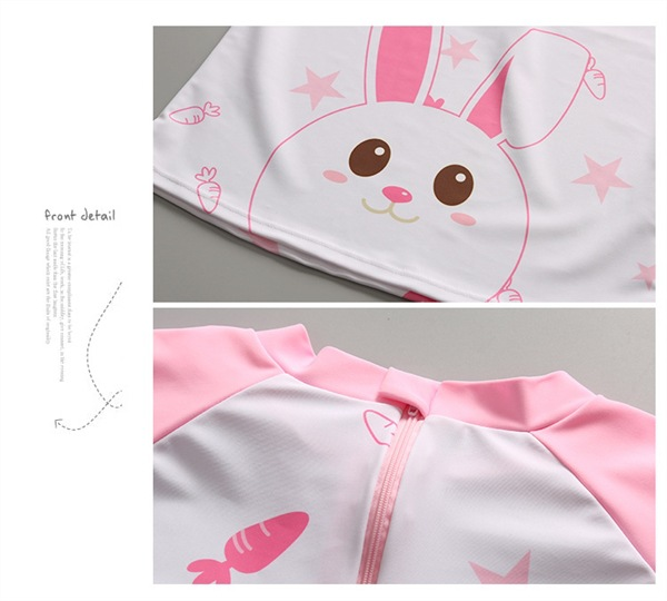 Children's Korean-Style South Korea Bathing Suit Girls Baby Long Sleeve Trousers Split Type Four-piece Set Tour Bathing Suit Sun