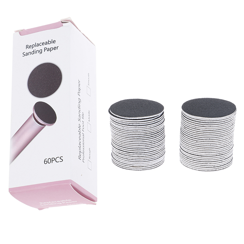 60PCS/Box Replacement Sandpaper Disk Sanding Paper Accessory For Electric Foot Callus Remover Tool Pedicure Foot File