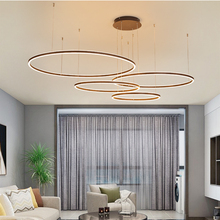 TRAZOS Modern Led Chandelier Rings Circle Ceiling mounted LED Chandelier Lighting For Living room Dining room Kitchen Coffee 40 60 80 100cm modern led chandelier lighting 4 circle rings led chandelier ceiling for dining room home indoor lighting fixture