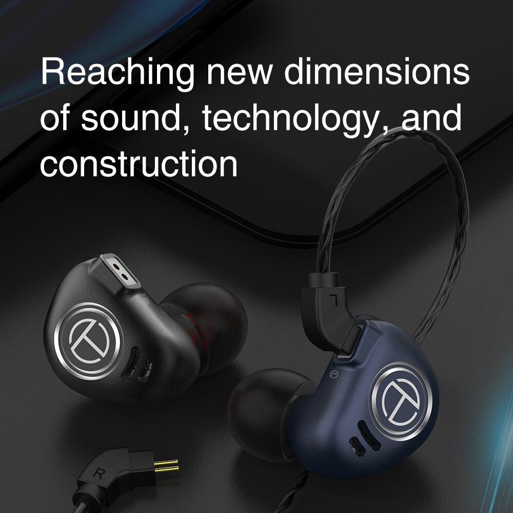 TRN In Ear Monitor Professional Earphones Hifi Hybrid Drive Noise Reduction Stereo Earphones Wired Earbuds