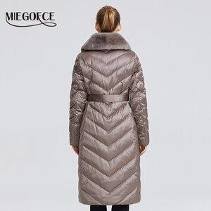 Image 4 - MIEGOFCE 2020 New Collection 여성 자켓 토끼 칼라 여성 겨울 코트 비정상적인 색상 방풍 겨울 파카