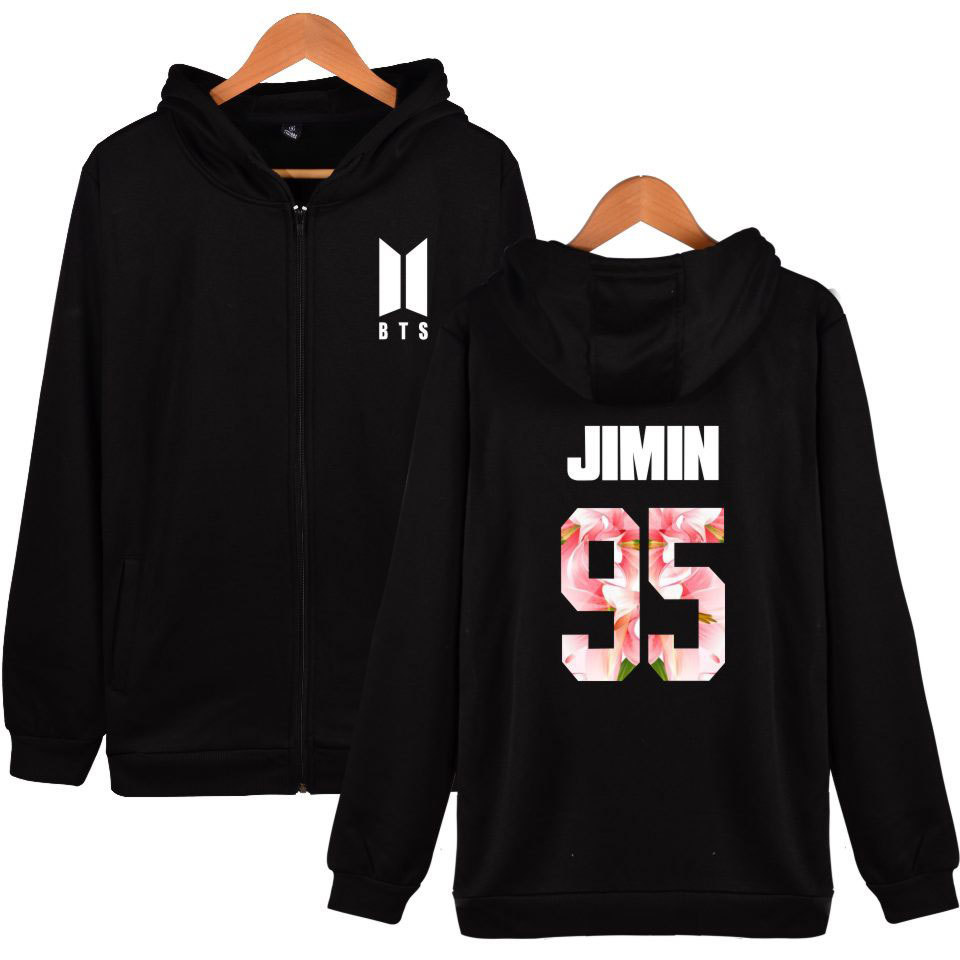 BTS Clothes The Mood For Love New Style Series Jimin Bulletproof Boys Celebrity Style Zipper Hoodie Should Aid The Clothes
