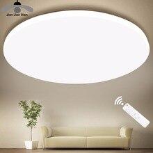 Luces de techo LED ultradelgadas, lámpara moderna para sala de estar, dormitorio, cocina, accesorio de iluminación, montaje en superficie, Control remoto