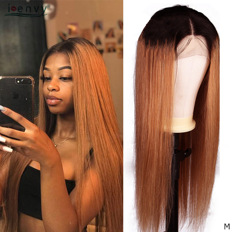 Ombre Blonde Lace Front Human Hair Wigs 150% 13x4 1b 30 Brazilian Straight Colored Human Hair Lace Wigs Non-Remy Pre Plucked