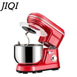JIQI 110V/220V elektryczne mieszadło do żywności gospodarstwa domowego 1000W wysokiej jakości stojak miksery 5L dużej pojemności urządzenie kuchenne mieszarka do ciasta