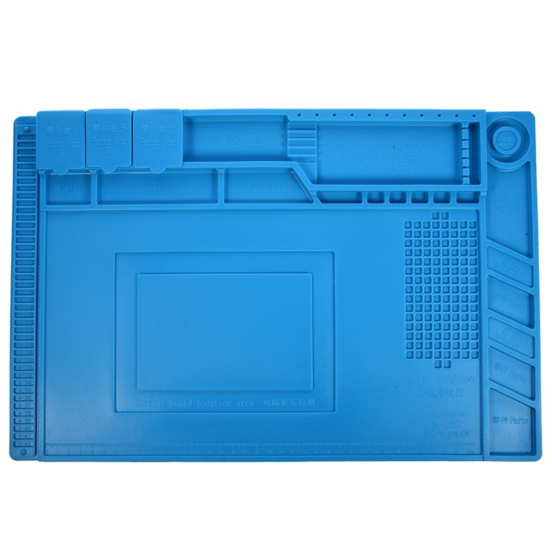 S-160 45x30cm Heat Insulation Silicone Pad Desk Mat Maintenance Platform For BGA Soldering Repair Station With Magnetic Section