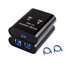 2 Port USB3.0 Switch Printer Splitter 2 In 1 Out Switcher Two Computers Share A usb3.0 Device With Cable