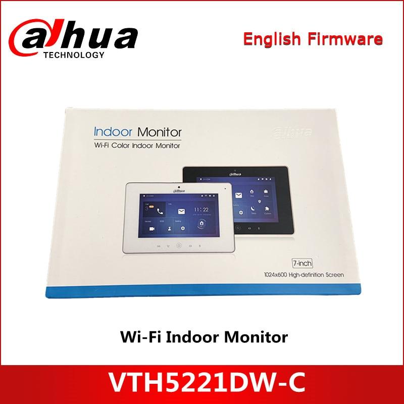 Dahua-intercomunicador de vídeo para interior, Monitor con WiFi, pantalla táctil TFT de 7 pulgadas, VTH5221DW-C-S1 para videovigilancia IPC, timbre con tarjeta Micro SD