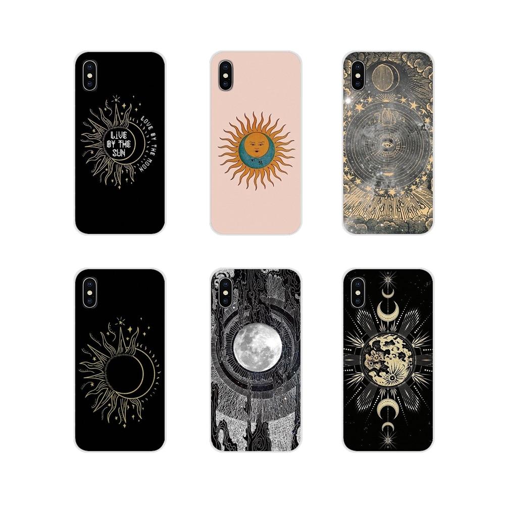 Солнце и луна аксессуары для телефона Чехлы для Apple iPhone X XR XS 11Pro MAX 4S 5S 5C SE 6S 7 8 Plus ipod 5 6