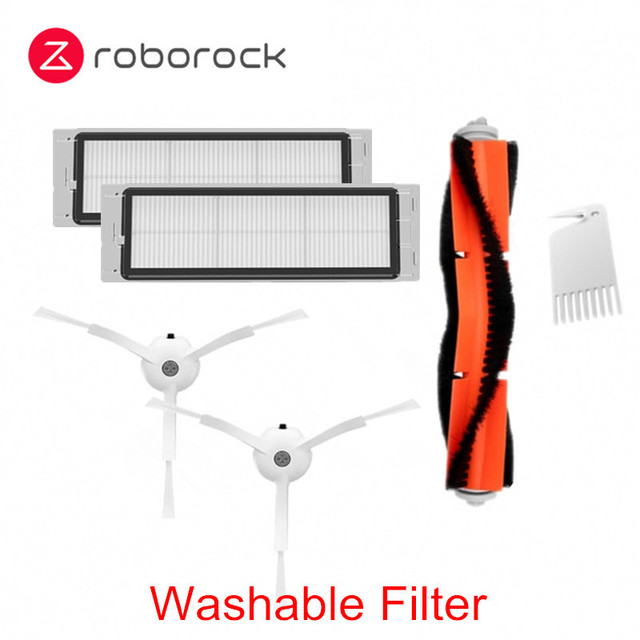 Main Side Brush Filter Kits for Xiaomi Mijia 1//1S Roborock S5//S50 Vacuum Cleaner