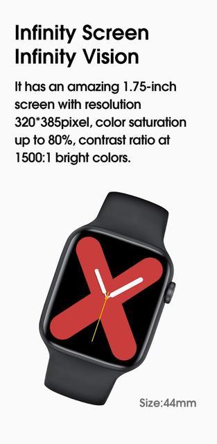 2020 Original Abigail IWO W26 Bluetooth Call Smart Watch Men Women IP68 Waterproof 44mm Smartwatch For Apple Android PK 12 Pro 6 6