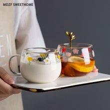 Mdzf 400 мл чашка для молока с ложкой кофейная кружка завтрака