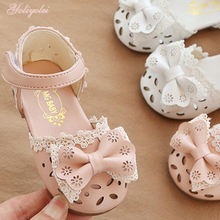 Children Sandals Hollow-Out-Shoes Toddler Girls Baby Breathable Kids Summer Bow Yoliyolei