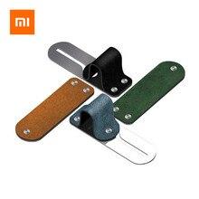 Автомобильный держатель для телефона Xiaomi, кожаный + мобильный телефон из нержавеющей стали, для iPhone XS/X/8/7/6, Huawei, Samsung