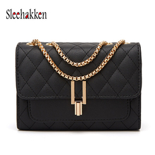 Women Bag Fashion With Mini rhombic chain bag Shoulder Messenger 2019 Hot Sale package Pu Square Package