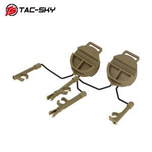 Image 2 - Tactical Headset Bracket Fast Ops Core Helmet ARC Rail Adapter Set Peltor comtac Series Military Noise Cancelling Headphones DE