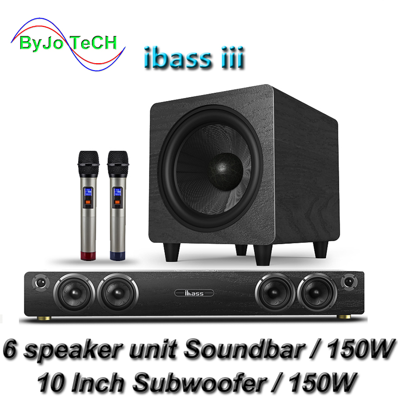 Ibass iii Саундбар Bluetooth домашний кинотеатр DTS SRS 3D виртуальный объемный ТВ беспроводной динамик коаксиальный Оптический без потерь качество зв