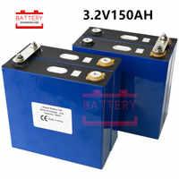 4 Uds. 3,2 v 135ah 150ah Lifepo4 batería litio hierro fosfato baterías nuevas 12v 24V150AH para solar RV paquete EU US libre de impuestos