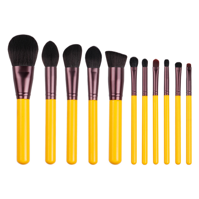 MyDestiny makeup brush-Yellow series 11pcs synthetic hair brushes set-face&eye cosmetic pen-artificial hair-beauty-beginer tool 3