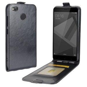 Vertical de piel Flip caso para Xiaomi Redmi 4 primer 4X 5 cartera caso para redmi Nota 4 note4x Nota 5 note5A teléfono bolsa estuche
