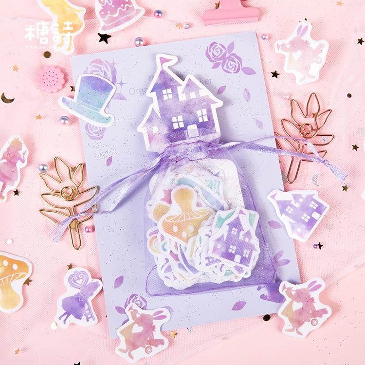 20 наборов/1 лот Alice Unicorn Rabbit Cherry Blossom дневник планировщик декоративные мобильные наклейки Скрапбукинг ремесленные канцелярские наклейки