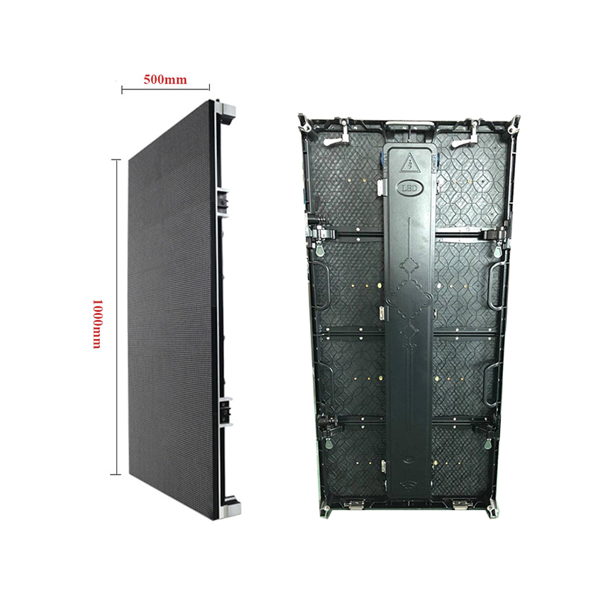 500x1000mm 104*208dots Die Cast Aluminum Cabinet P4.81 Outdoor Rgb Led Display Screen Rental Advertising Video Wall Panel