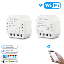 WIFI Smart Switch Module Dimmer Remote Control DIY Home Automatic for Amazon Alexa Google 1/2 Way MS-105