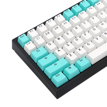 PBT Keycaps Mx-Switches-Of-Mechanical-Keyboard Cherry Doubleshot White Green Printed