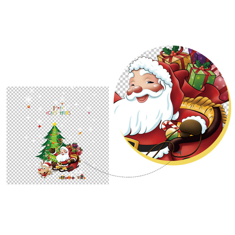 Christmas Pictures Cartoon.Us 5 7 44 Off Xmas Cartoon Snowman Santa Window Wall Sticker Christmas Gift Home Decoration New High Quality Hot On Aliexpress 11 11 Double