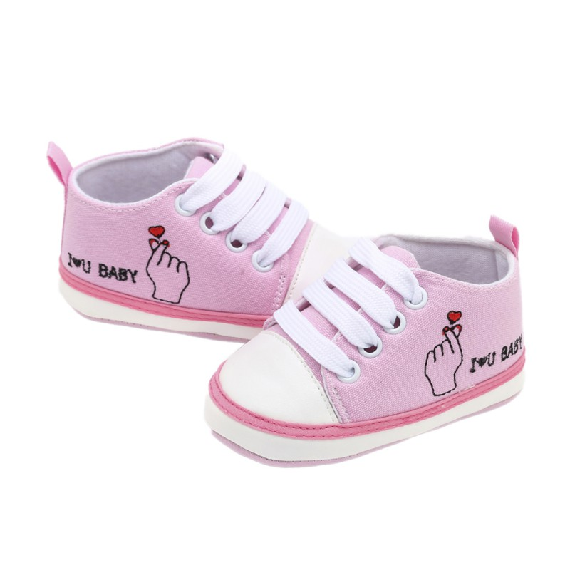 Letter I LOVE BABY Kids Children Boy Girl Sports Shoes Sneakers  Cute Baby Infant Soft Bottom First Walkers