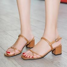Open Toe Roman Sandals Women Summer Fashion Wedding Party Shoes Woman Sandals Elegant Sexy Chunky Heels Women Strap Sandals