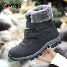 WWKK/Новинка года; женские ботинки; зимняя обувь на платформе; толстые плюшевые Нескользящие водонепроницаемые теплые зимние сапоги для женщин; botas mujer