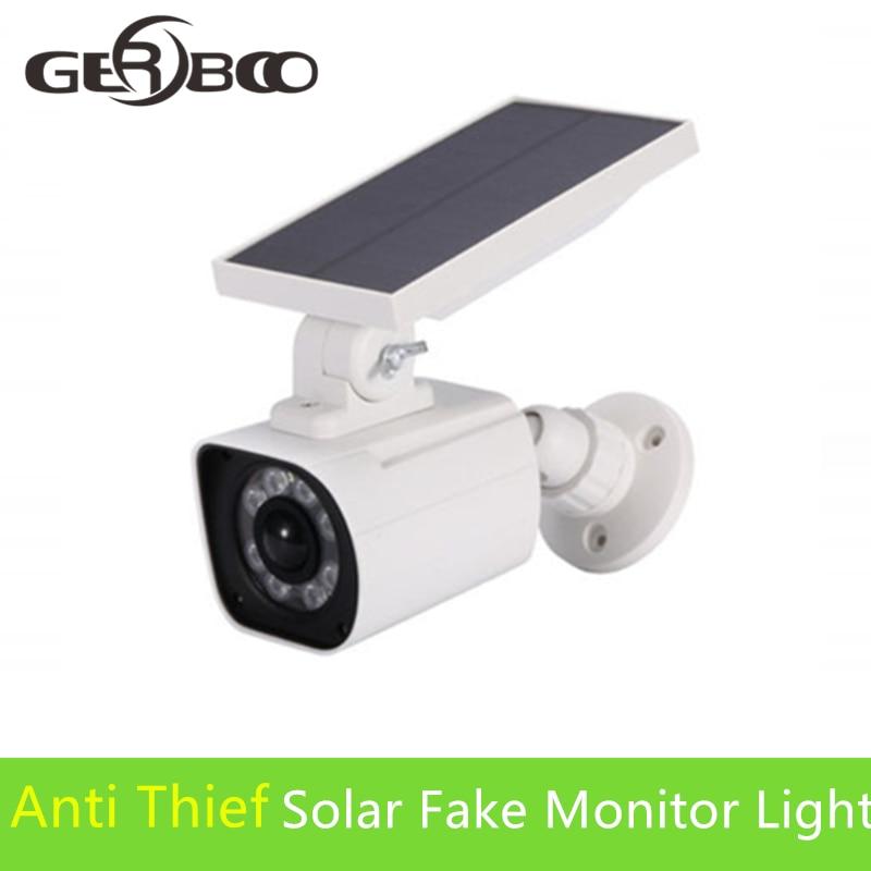 8LEDs Solar Licht Gefälschte Monitor Form Einstellbare Beleuchtung Winkel Wasserdichte Lampe Scheinwerfer Straße Licht PIR Licht Motion Sensor