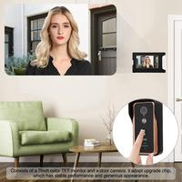 7 inches Video Intercome Doorbell with Electronic Lock and Open Door Button 100 240V door bell Home Security Accessories