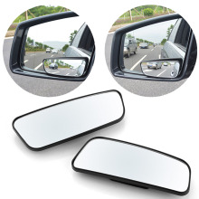 2Pcs Car Blind Spot Mirror 360 Degree Adjustable Wide Angle Convex Rear View Mirror Car Parking Rearview Mirror round long vodool 2pcs frameless car blind spot mirror 360 degree adjustable wide angle convex rear view mirror car parking rearview mirror
