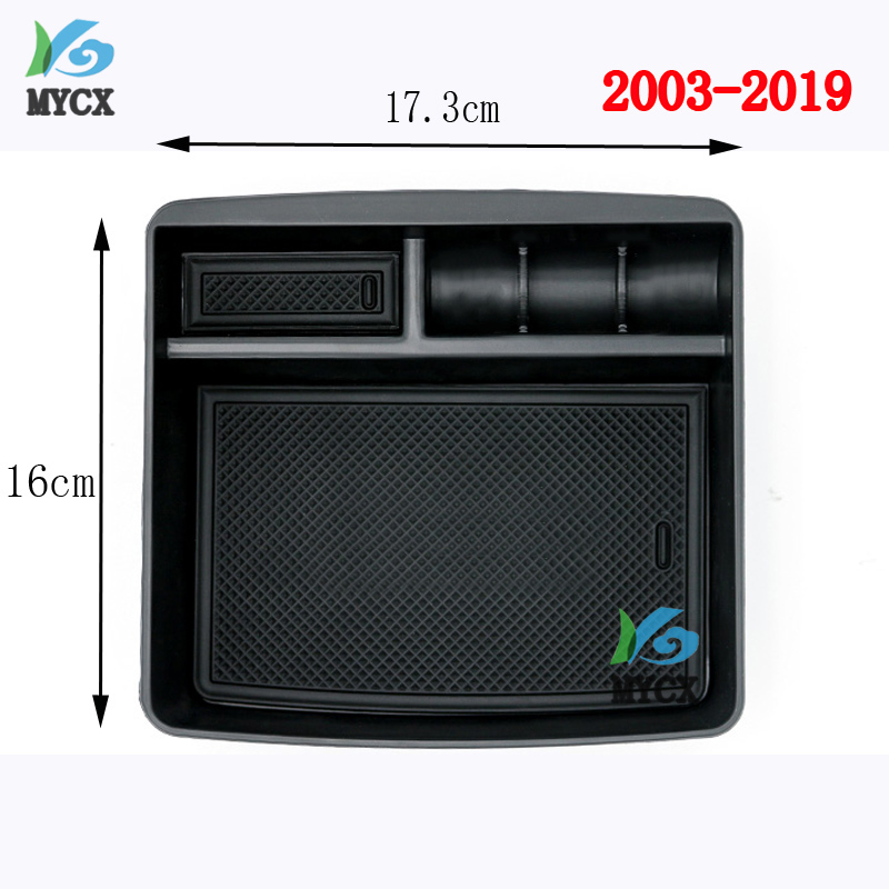 2003-2019 Car Central Armrest Console Organizer Storage Box For <font><b>Toyota</b></font> Land Cruiser <font><b>Prado</b></font> FJ150 120 <font><b>FJ120</b></font> FJ 120 <font><b>Accessories</b></font> image