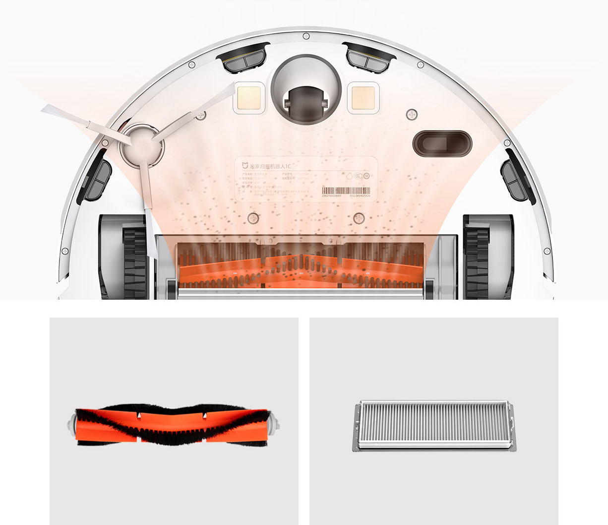 Xiaomi Mi Robot Vacuum Cleaner 1C Sweeping Mopping STYTJ01ZHM for Home Automatic Dust Sterilize Smart Planned Xiaomi Mi Robot Vacuum Cleaner 1C Sweeping Mopping STYTJ01ZHM for Home Automatic Dust Sterilize Smart Planned Cleaner