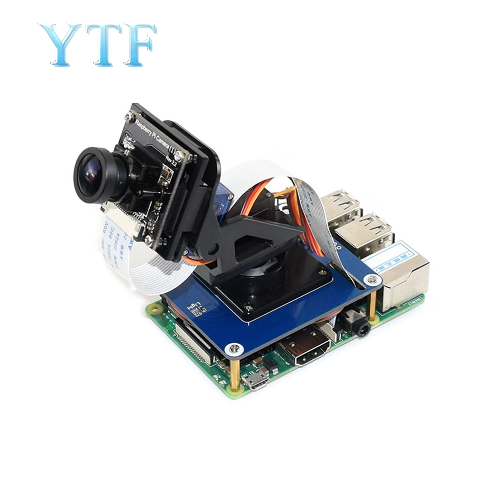 Raspberry Pi Two Degrees Of Freedom PTZ Expansion Board Onboard PCA9685/TSL2581 Ambient Light Sensor Module