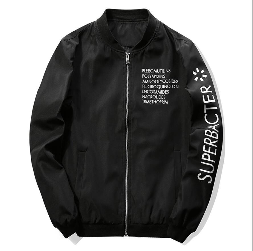 2019 New Spring Autumn Casual Solid Fashion Slim Men Bomber Jacket Male Baseball Men's windbreaker Jackets Coat Men's