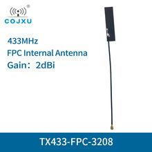 10 шт/лот fpc wifi антенна 433 МГц 2dbi ipx интерфейс tx433