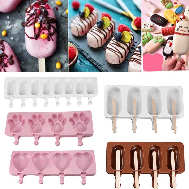 Домашние Еда Класс силиконовая формочка для мороженого в виде мороженого и формочка для морозильника мороженного