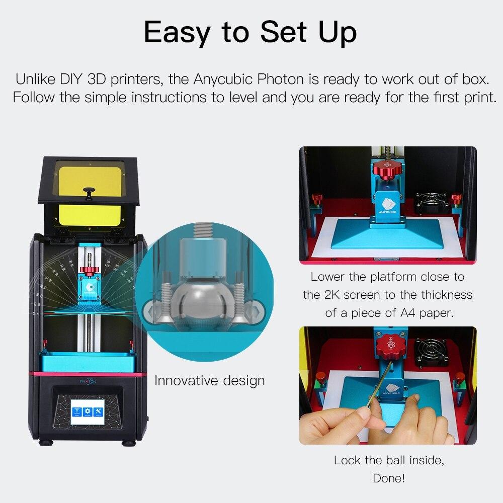 Image 2 - ANYCUBIC Photon SLA drukarka 3D Plus rozmiar 2K ekran dotykowy szybki plaster LCD drukarka żywicy UV stampante 3d impresora 3d impressoraDrukarki 3D   -