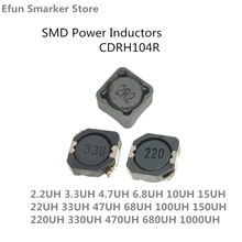 SMD Power Inductors CDRH104R CD104R 10*10*4MM 2.2UH 3.3UH 4.7UH 6.8UH 10UH 22UH 33UH 47UH 68UH 100UH 150UH 220UH 330UH