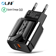 3A Quick Charge 3.0 USB Charger EU Wall Mobile Phon