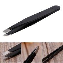 Профессиональный пинцет для бровей Наклонный наконечник для удаления волос из нержавеющей стали инструменты для макияжа