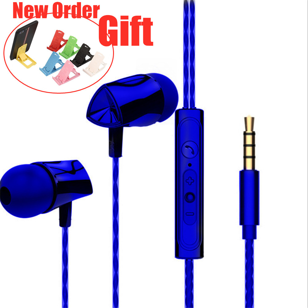 In-Ear Wired Earphone 3.5mm Earbuds Earphones Music Sport Gaming Headset With Mic For IPhone Xiaomi Samsung Huawei P40 Stereo
