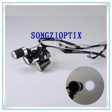 Songzi оптика 2.5X 3X 3.5X дополнительные Очки Зубные Хирургические лупы с SZ-2 высокой яркости фар