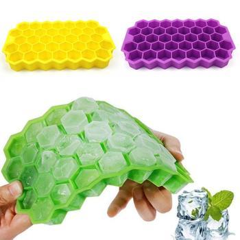 37 kostek foremka do lodu w kształcie kostek kreatywny DIY kształt plastra miodu Ice Cube ray mold lody Party zimny napój Bar zimny napój narzędzia tanie i dobre opinie Urządzenia do lodów CN (pochodzenie) Ekologiczne Ice Cream Tools Przybory do lodów SILICONE