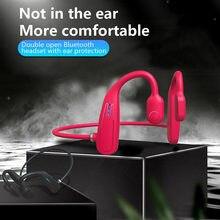 Open-Ohr Drahtlose Knochen Leitung Kopfhörer Bluetooth 5,0 Sport Kopfhörer IP5 Bewertet Hände-freies Stereo Headset Mit Mikrofon