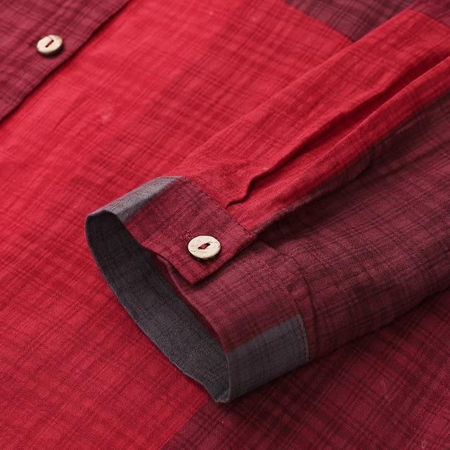 extended shirt dress, plaid print 6